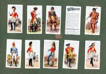 Collectible  cigarette cards set  History of Army Uniforms 1937